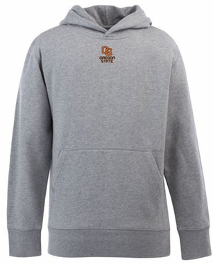 Oregon State YOUTH Boys Signature Hooded Sweatshirt (Color: Gray)