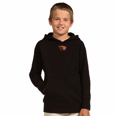Oregon State YOUTH Boys Signature Hooded Sweatshirt (Color: Black)