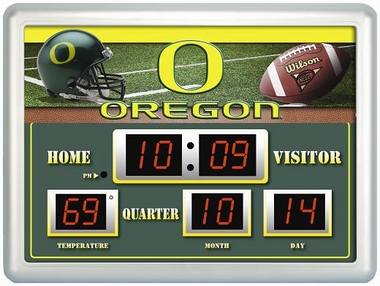 Oregon Time / Date / Temp. Scoreboard