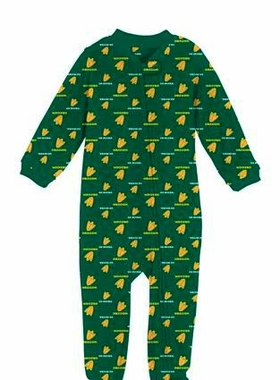 Oregon Toddler Zip Raglan Coverall Sleeper