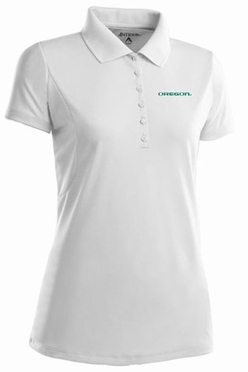 Oregon Womens Pique Xtra Lite Polo Shirt (Color: White)