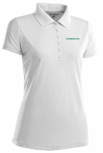 Oregon Womens Pique Xtra Lite Polo Shirt (Color: White) - Large
