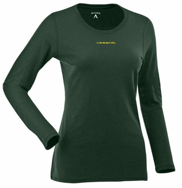 Oregon Womens Relax Long Sleeve Tee (Team Color: Green)