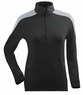 Oregon Womens Succeed 1/4 Zip Performance Pullover (Team Color: Black)