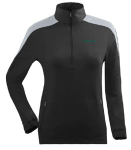 Oregon Womens Succeed 1/4 Zip Performance Pullover (Team Color: Black) - Small