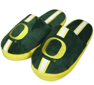 Oregon YOUTH Team Stripe Slide Slippers - Large