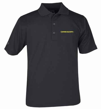 Oregon YOUTH Unisex Pique Polo Shirt (Team Color: Black)