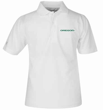 Oregon YOUTH Unisex Pique Polo Shirt (Color: White)