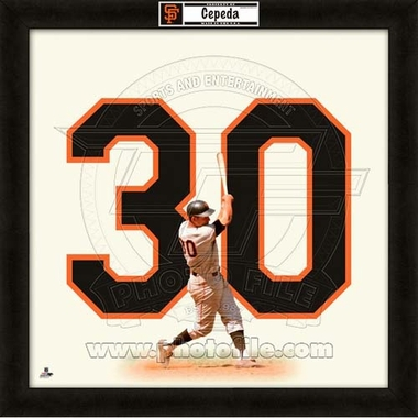 "Orlando Cepeda, Giants UNIFRAME 20"" x 20"""