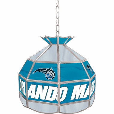 Orlando Magic 16 Inch Diameter Stained Glass Pub Light