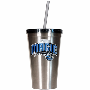 Orlando Magic 16oz Stainless Steel Insulated Tumbler with Straw