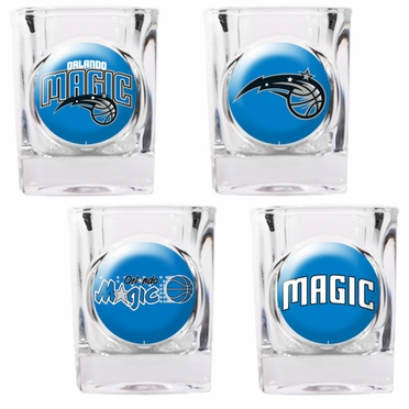 Orlando Magic 4 Piece Assorted Shot Glass Set