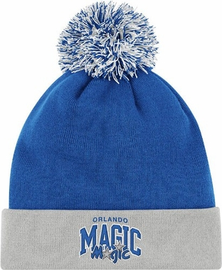 Orlando Magic Arched Logo Vintage Cuffed Pom Hat