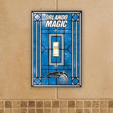 Orlando Magic Art Glass Lightswitch Cover