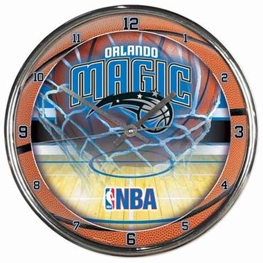Orlando Magic Chrome Clock