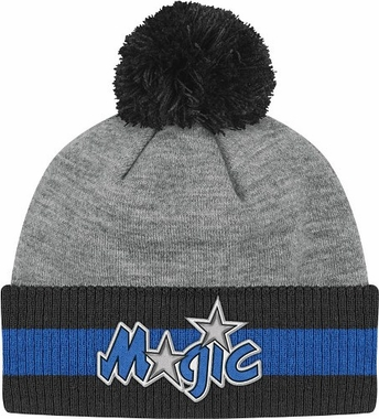 Orlando Magic Jersey Stripe Vintage Cuffed Pom Hat (Grey)
