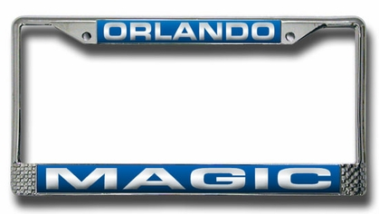 Orlando Magic Laser Etched Chrome License Plate Frame
