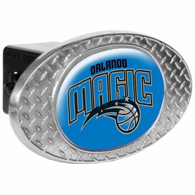 Orlando Magic Metal Diamond Plate Trailer Hitch Cover