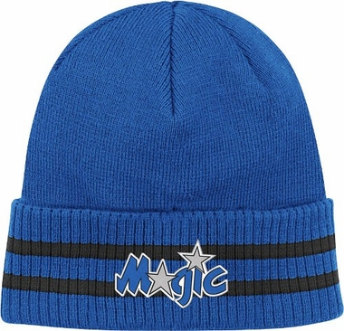 Orlando Magic Mitchell & Ness NBA Vintage Stockey Stripe Cuffed Knit Hat