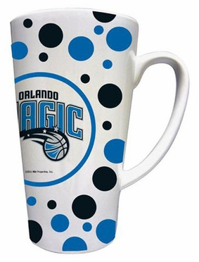 Orlando Magic Polkadot 16 oz. Ceramic Latte Mug