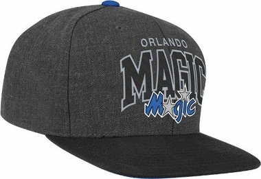 Orlando Magic Vintage Heather Wool Arch Logo Charcoal Snap Back Hat
