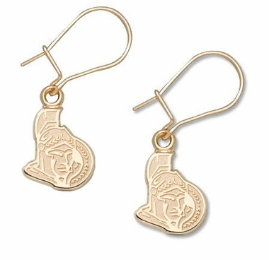 Ottawa Senators 14K Gold Post or Dangle Earrings