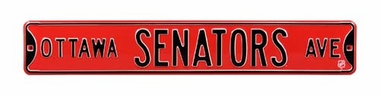 Ottawa Senators Ave Street Sign
