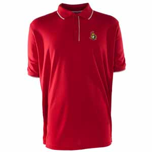 Ottawa Senators Mens Elite Polo Shirt (Team Color: Red) - Small