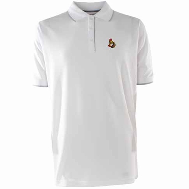 Ottawa Senators Mens Elite Polo Shirt (Color: White)