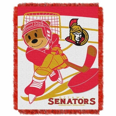 Ottawa Senators Jacquard BABY Throw Blanket