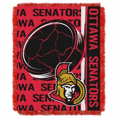 Ottawa Senators Jacquard Woven Throw Blanket