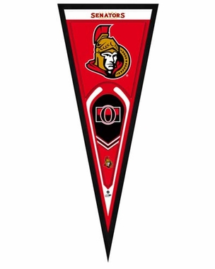 "Ottawa Senators Pennant Frame - 13"" x 33"" (No Glass)"