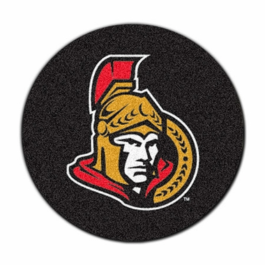 Ottawa Senators 27 Inch Puck Shaped Rug