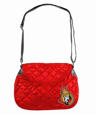 Ottawa Senators Quilted Saddlebag