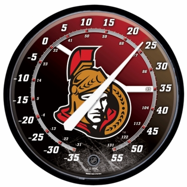 Ottawa Senators Round Wall Thermometer