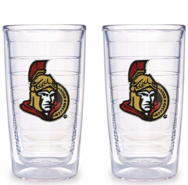 Ottawa Senators Set of TWO 16 oz. Tervis Tumblers