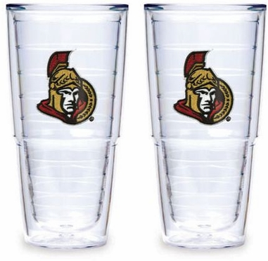 "Ottawa Senators Set of TWO 24 oz. ""Big T"" Tervis Tumblers"