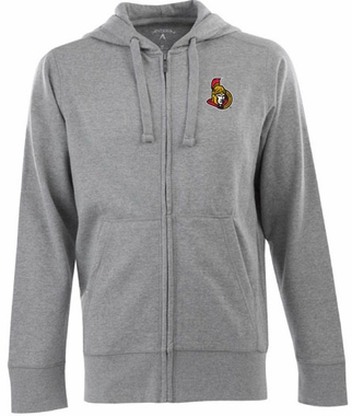 Ottawa Senators Mens Signature Full Zip Hooded Sweatshirt (Color: Gray)