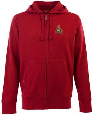 Ottawa Senators Mens Signature Full Zip Hooded Sweatshirt (Team Color: Red)