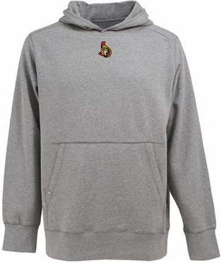 Ottawa Senators Mens Signature Hooded Sweatshirt (Color: Gray)