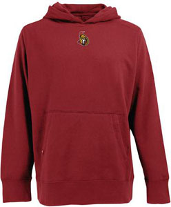 Ottawa Senators Mens Signature Hooded Sweatshirt (Team Color: Red) - Small