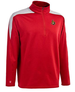 Ottawa Senators Mens Succeed 1/4 Zip Performance Pullover (Team Color: Red) - X-Large