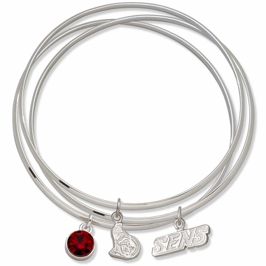 Ottawa Senators Triple Bangle Bracelet