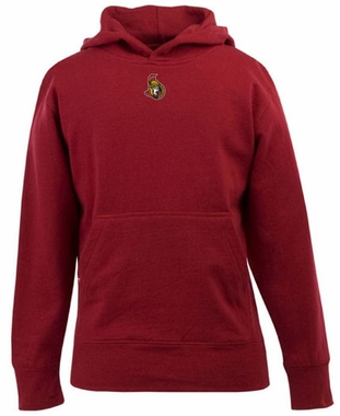 Ottawa Senators YOUTH Boys Signature Hooded Sweatshirt (Team Color: Red)