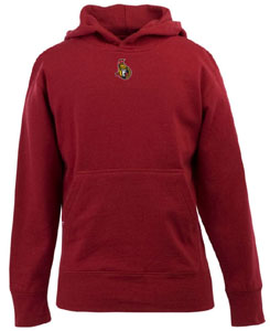 Ottawa Senators YOUTH Boys Signature Hooded Sweatshirt (Team Color: Red) - Large