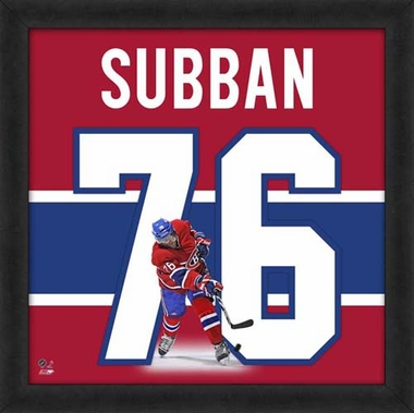 "P.K. Subban, Canadiens UNIFRAME 20"" x 20"""