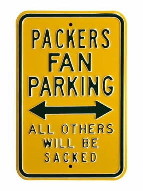 Packers/Sacked Parking Sign