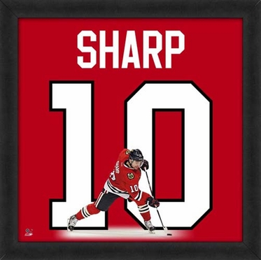 "Patrick Sharp, Blackhawks UNIFRAME 20"" x 20"""