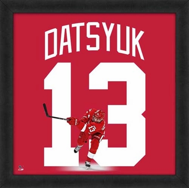 "Pavel Datsyuk, Red Wings UNIFRAME 20"" x 20"""