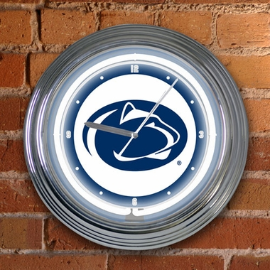Penn State 15 Inch Neon Clock